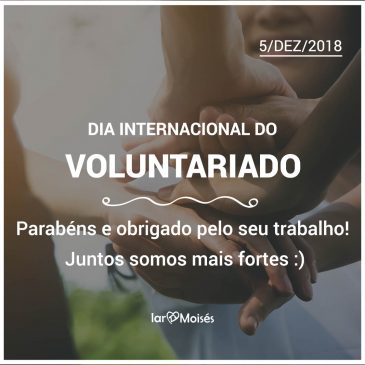Homenagem ao Dia do Voluntariado